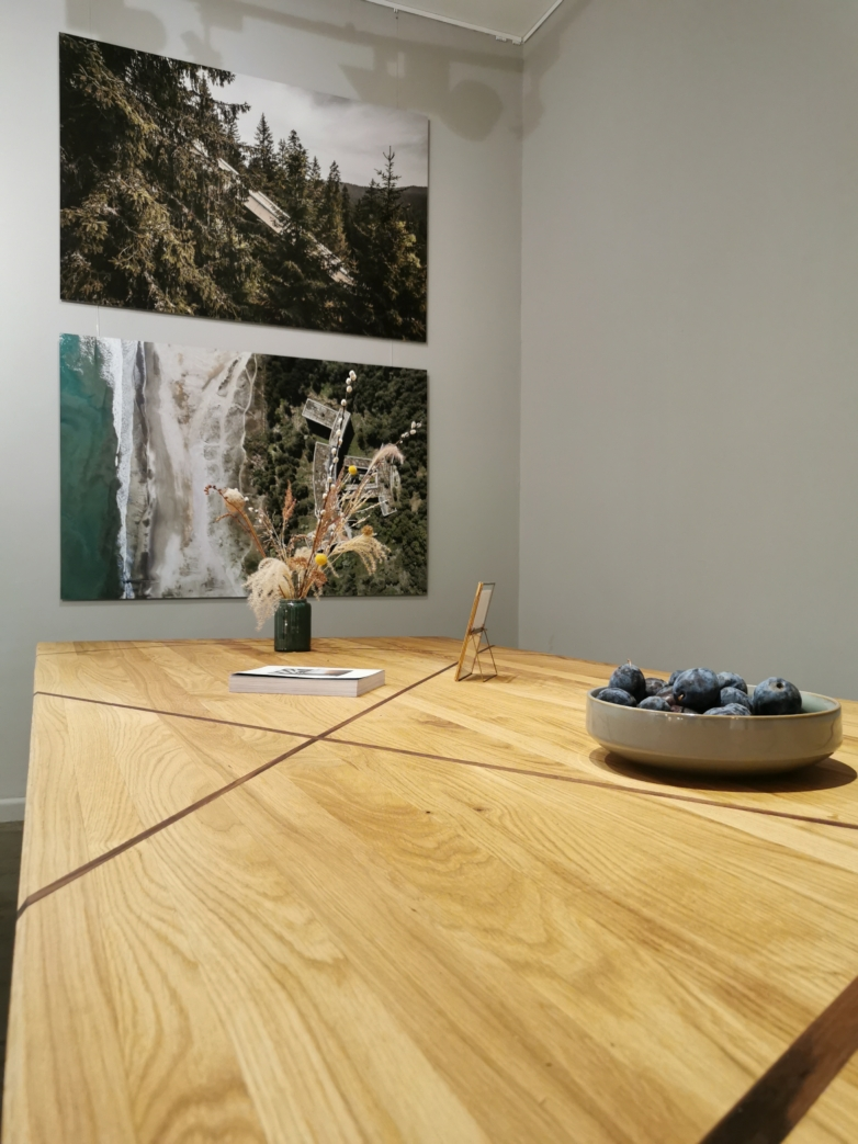 Massivholztisch Designertisch Eiche Nuss Nachhaltig