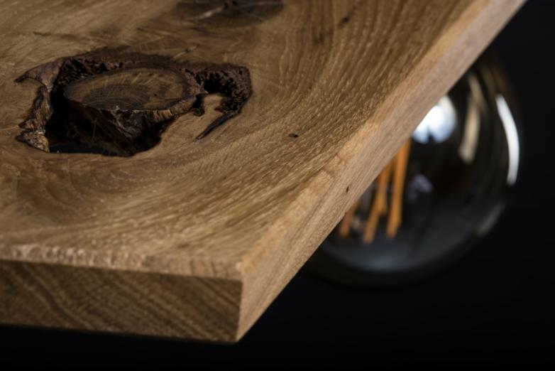 Hängeleuchte – Zwillingsleuchte – Verschnitt – Eichenholz – Detailansicht