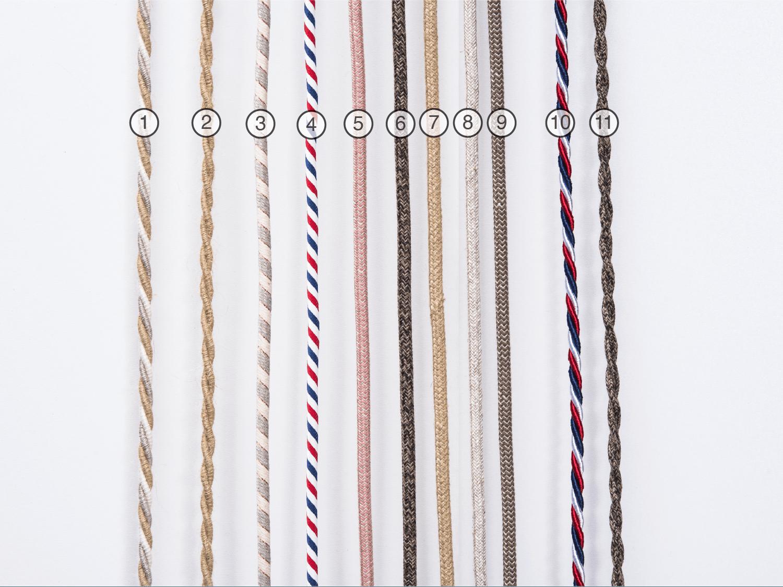 Kabel zur Auswahl für die Leuchten der Verschnitt Holz Manufaktur