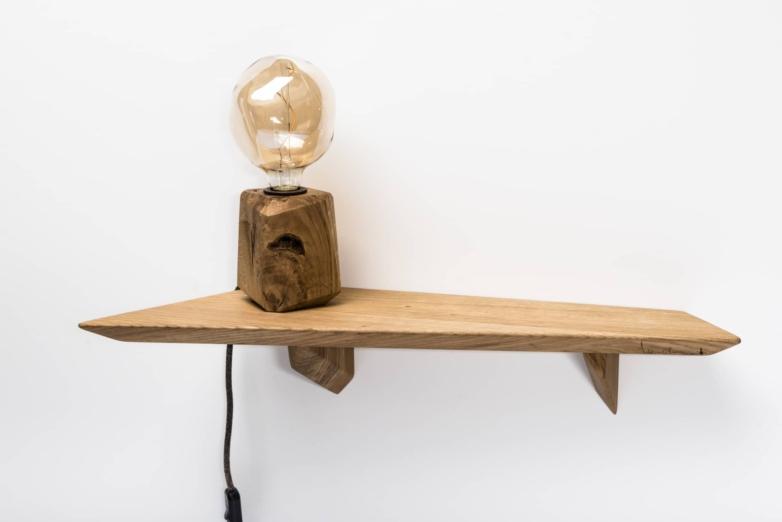Wandregal – Verschnitt – Eichenholz – Produktansicht