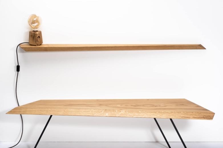 Wandregal L aus Eichenholz | Verschnitt Manufaktur für nachhaltige Holzmöbel