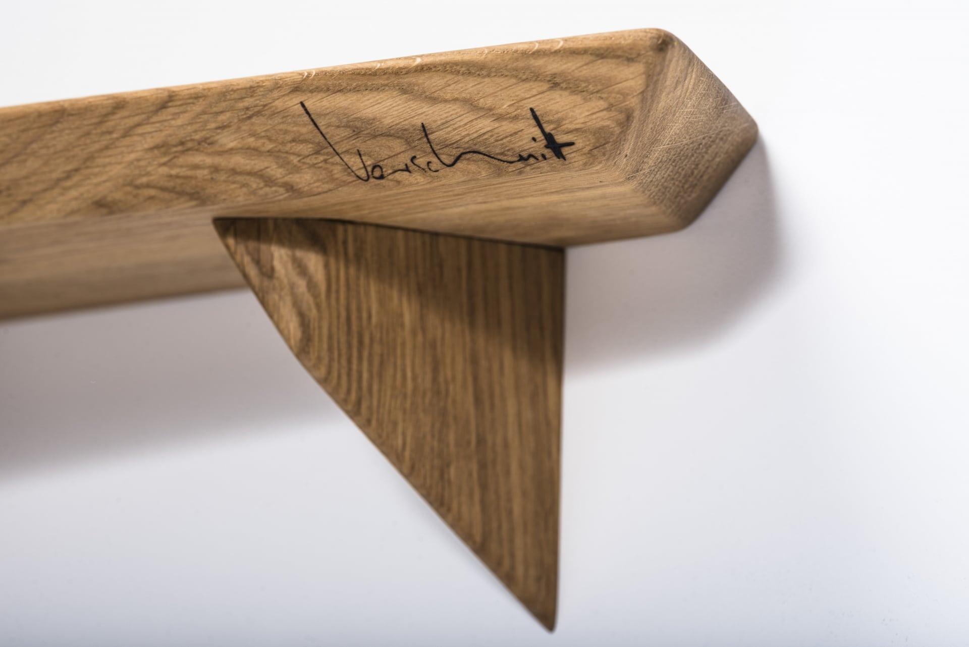 Wandregal – Verschnitt – Eichenholz – Detailansicht
