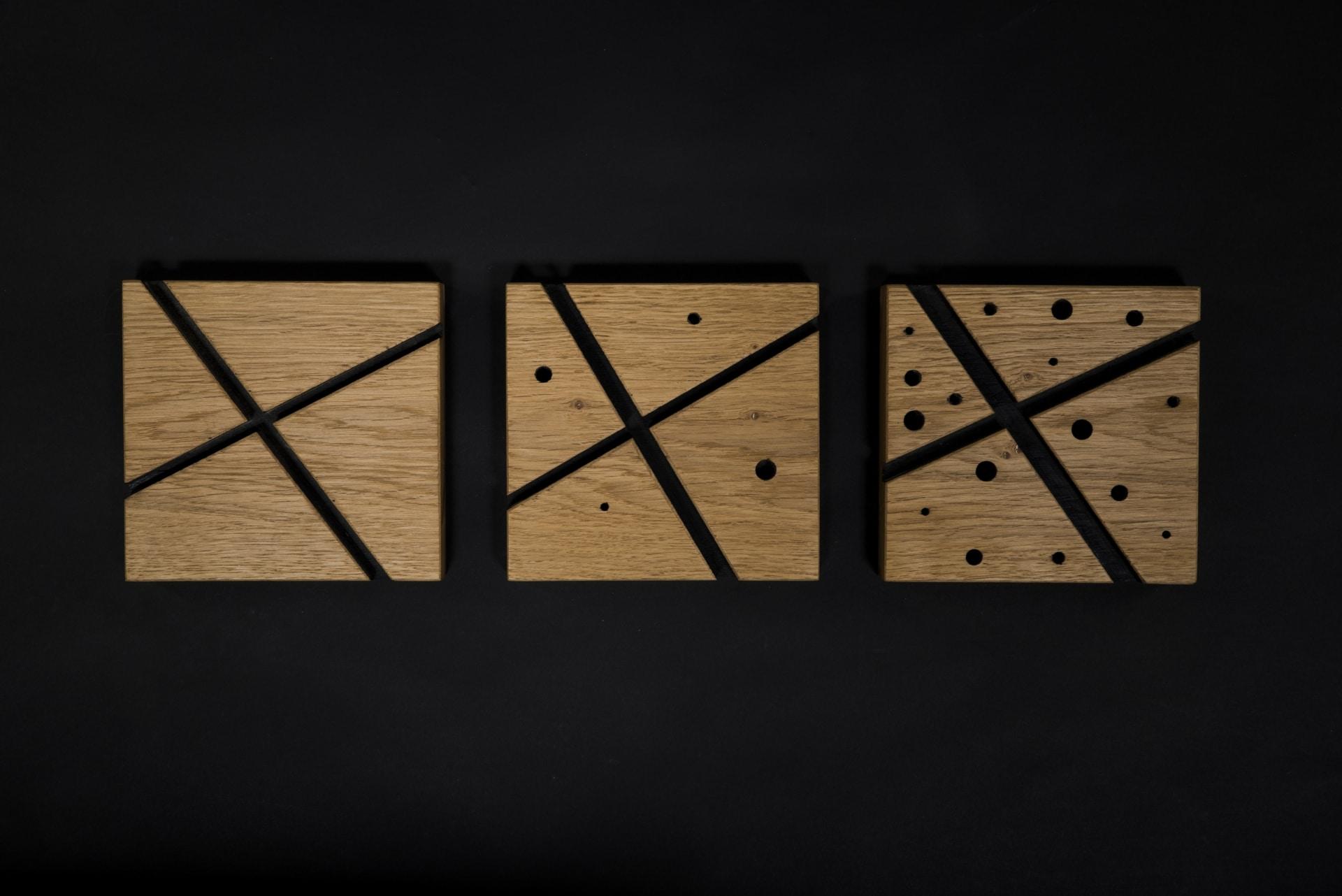 Kunst – Lost in Space – Verschnitt – Eichenholz – Produktansicht
